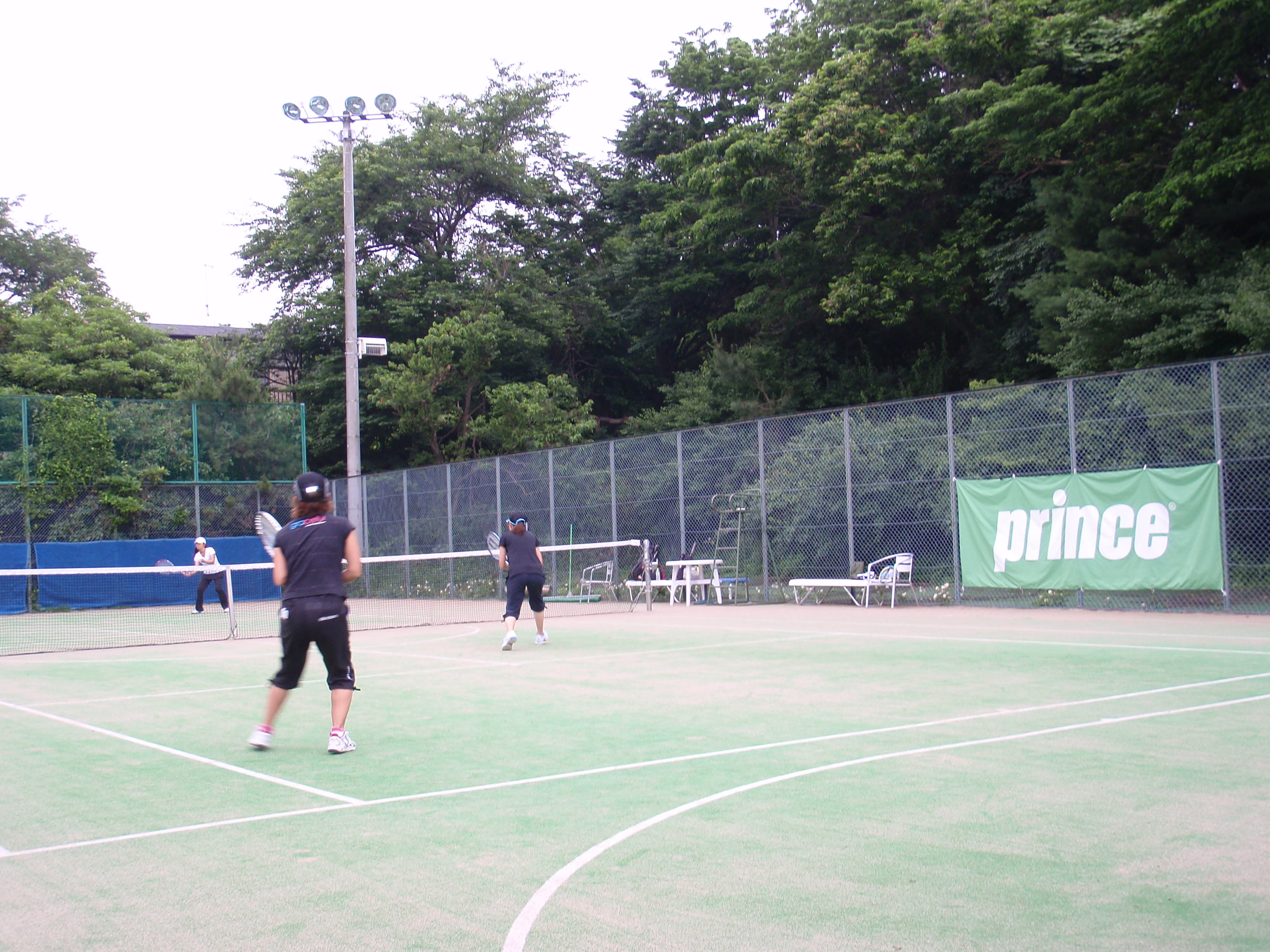 one day doubles tournament 試合 様子