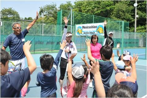 杉山愛 テニス クリニック 2013