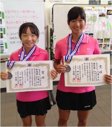 山藤 真帆 第40回全国中学生テニス選手権大会