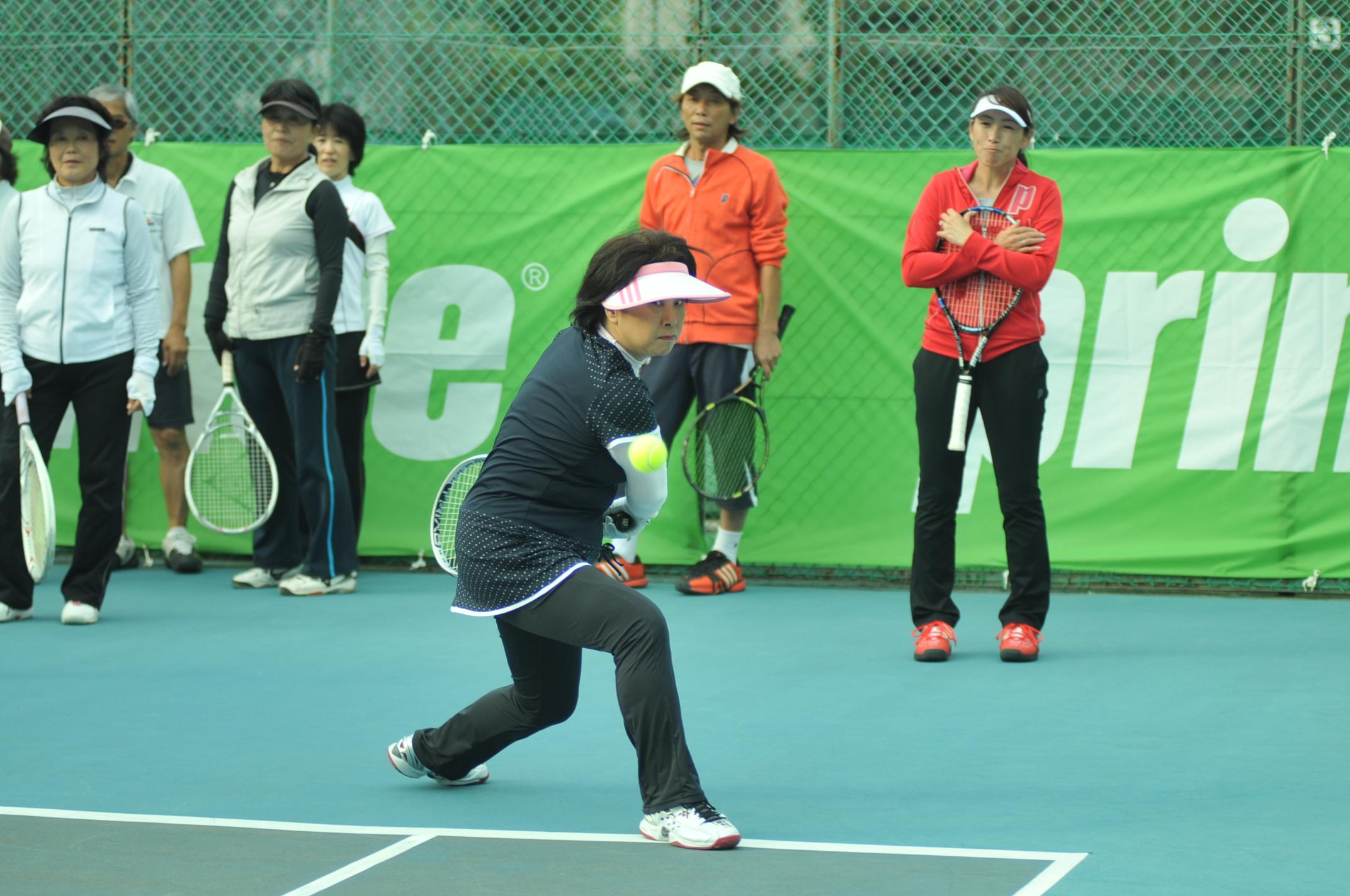 杉山愛 テニス クリニック